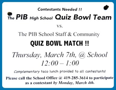 Put in Bay Quiz Bowl