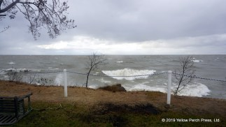 Lake Erie storm waves