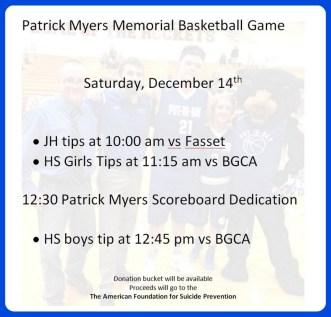 Patrick Myers Memorial
