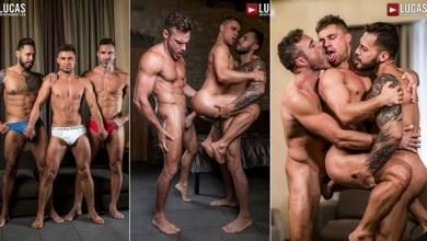 Photo of Viktor Rom e Manuel Skye arregaçando o cu do russo Klim Gromov – Bareback