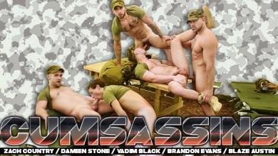 Photo of Cumsassins – Episódio 3 – Zach Country, Damien Stone, Vadim Black, Brandon Evans & Blaze Austin