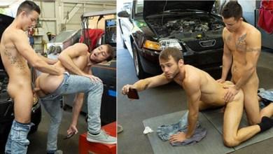 Photo of Dudes In Public – Repair Shop – Nic Sahara fucks Max Adonis