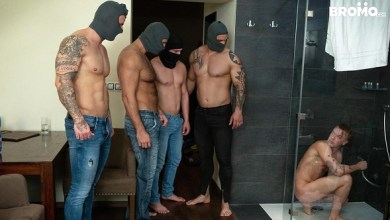 Photo of Bromo Train Bang – Jerome, Tomm, Roman, Rudy Valentino & Luke Ward – Bareback