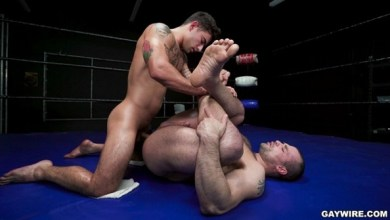 Photo of GayWire – Oiled Gay Championship Wrestling – Vadim Black & Jaxx Thanatos