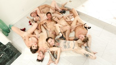 Photo of Group Bi In – Kat Monroe, Kasey Miller, Riley Nixon, Damien Thorn, Ruckus, Wolf Hudson, Michael DelRay, D Arclyte