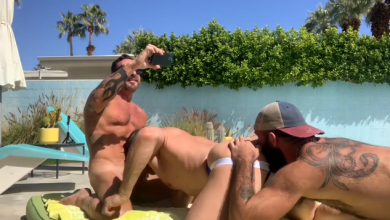 Photo of Daddy Gets Pounded Poolside – Jake Nicola, Vince Parker, Fitdaddy60plus