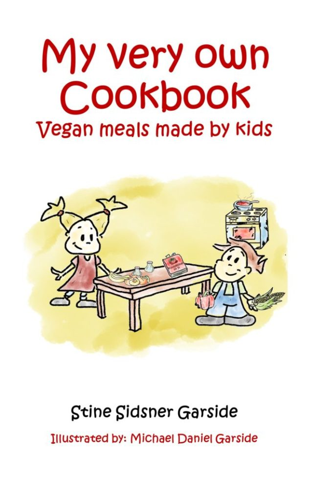 "Image showing the cover page of the free eBook ""My Very Own Cookbook - Vegan Meals Made by Kids"""