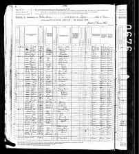 1880 US Census Wilkes Barre, Luyene Co., Pennsylvania