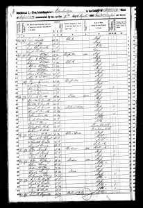 1850 US Census Cambridge, Mass