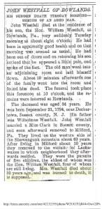 John Westfall Obituary