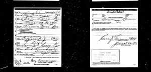 US World War 1 draft Registration card
