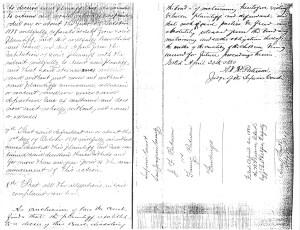 Divorce papers Joseph & Fanny Putnam