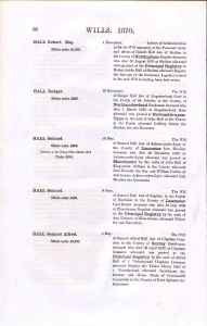 Probate index Samuel Hall
