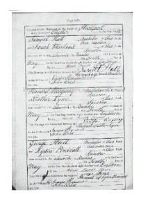 Cheshire Marriage record Parish of Stockport Samuel Hall and Sarah