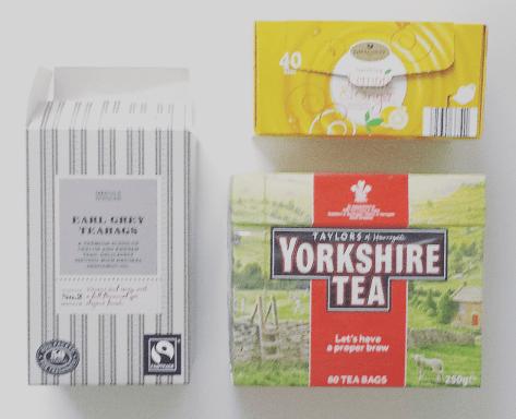 英国茶、柠檬茶、格雷伯爵茶。