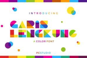Garis Lengkung Color Font