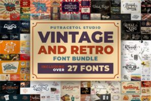 Vintage And Retro Font Bundles