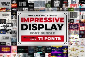 Impressive Display Font Bundles
