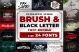 Last preview image of Brush & Black Letter Font Bundles