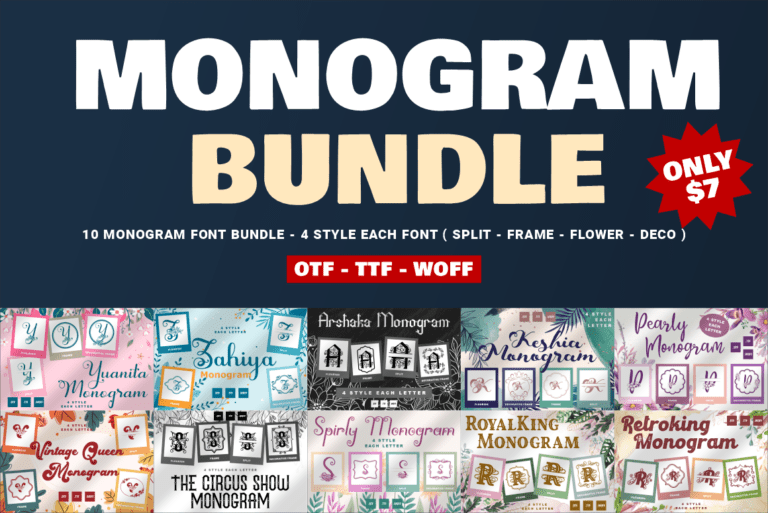 Monogram Font Bundle