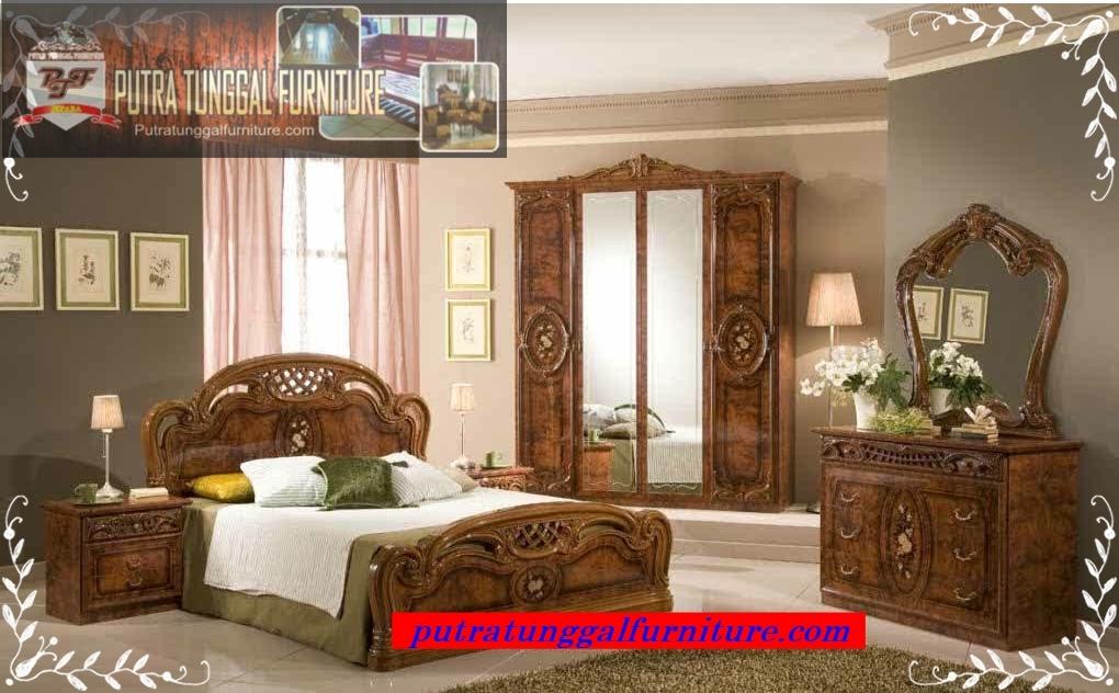 set tempat tidur jati  toko mebel  furniture jepara