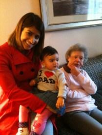 Beautiful Nelofer and Sitara with my mum