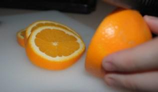 adding some orange slices