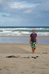 At the Sunshine Coast in March
