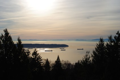 Beautiful view driving up to Cypress Mountain