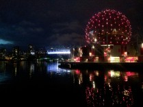 Science World with BC Place in the background