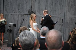 Kelly and Grant during the ceremony