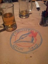 Rob drew this in Jack Astors restaurant!