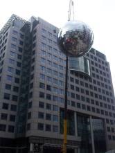 The giant disco ball!