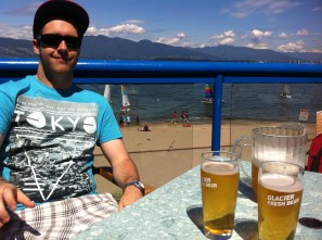 Rob enjoying our lunch spot