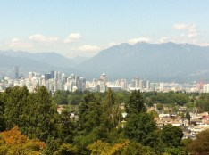 The view of Vancouver from Queen Elizabeth Park