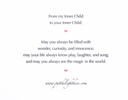 Inner child, childlike wonder, spirituality, enlightenment