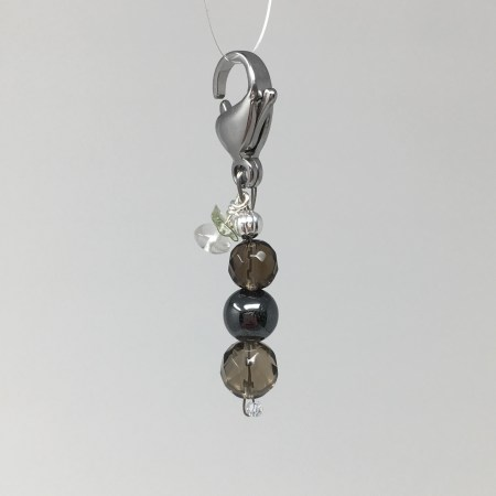 crystal accessories, charm, pet charm, hematite, shungite, protection, emf