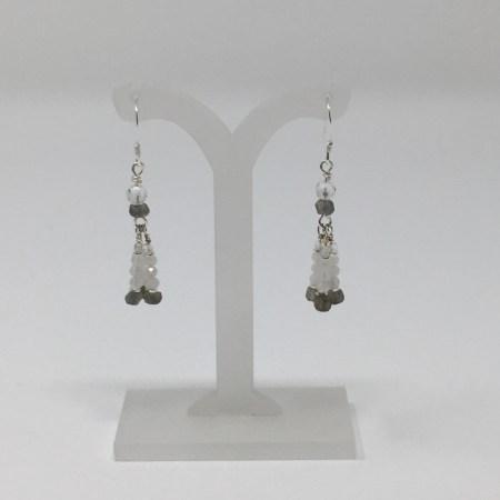 moonstone, labradorite, moonstone earrings, labradorite earrings, crystal earrings