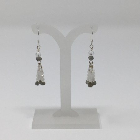 moonstone, labradorite, moonstone earrings, labradorite earrings, crystal earrings