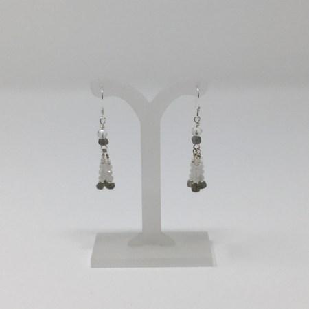moonstone, labradorite, moonstone earrings, labradorite earrings, feminine earrings
