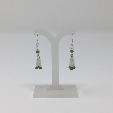moonstone, labradorite, moonstone earrings, labradorite earrings, feminine earrings