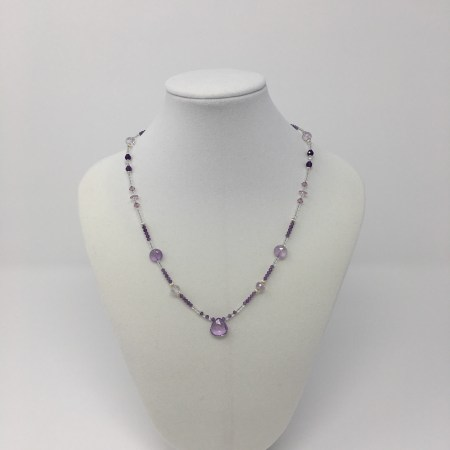 psychic jewelry, amethyst necklace, crystal jewelry, lavender amethyst, divine mystic