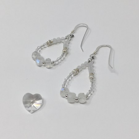 elegant jewelry, elegant earrings, rainbow moonstone earrings, feminine earrings, moonstone earrings