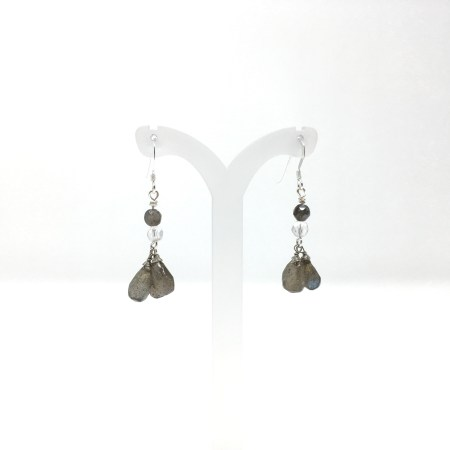 labradorite earrings, labradorite, dangling earrings, labradorite teardrop