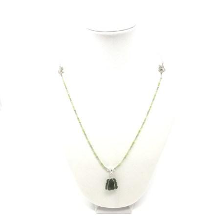 moldavite necklace, peridot necklace, psychic jewelry, moldavite pendant, lightworker jewelry, jewelry healer