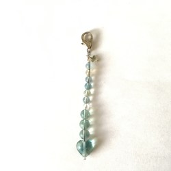 fluorite keychain, blue fluorite, fluorite heart, crystals communication, meditation gift