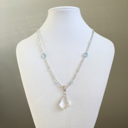 divine light, divine presence, light in form, pure light, crystal necklace