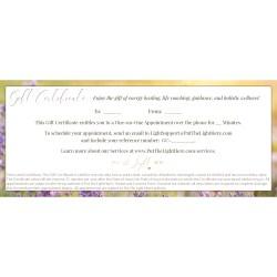 gift certificate healing, healing gift, wellness gift, reiki gift