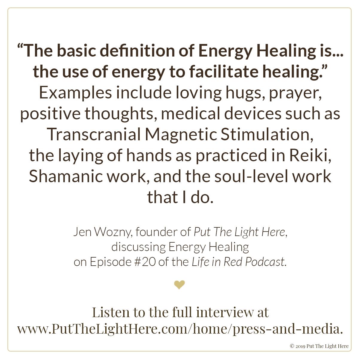 Energy Healing - Put The Light Here