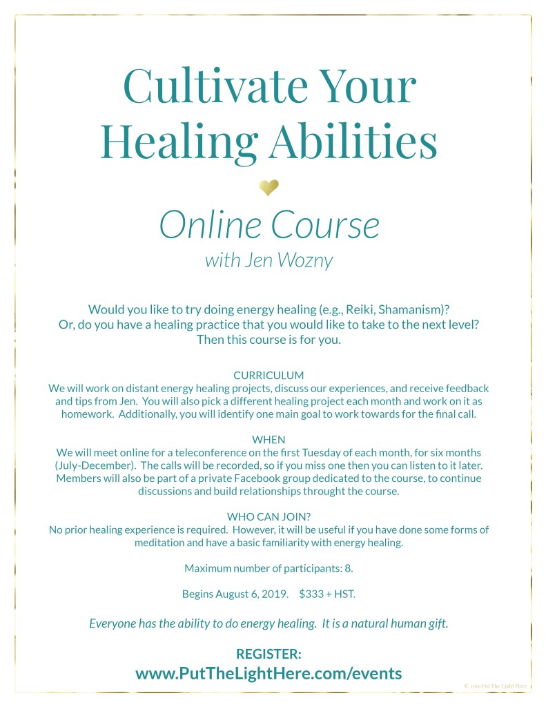 energy healing course, online course, online healing course, lightworker course, shamanism course